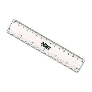 ATLAS IMPORTED CLEAR RULER 15CM6IN