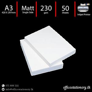 Matt photo paper a3 230gsm